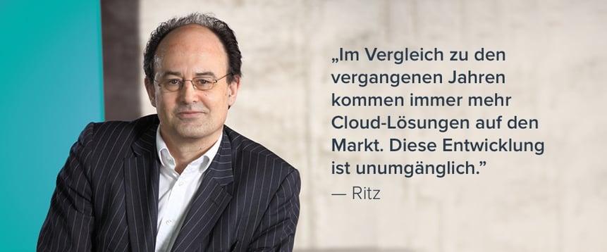"""Sebastian Ritz: """"KMUs werden ums Cloud-Computing nicht herumkommen"""""""