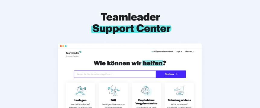 Entdecken Sie unser neu gestaltetes Support-Center