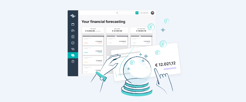 Ermitteln Sie Ihre künftigen Einnahmen mit der Finanzprognose von Teamleader