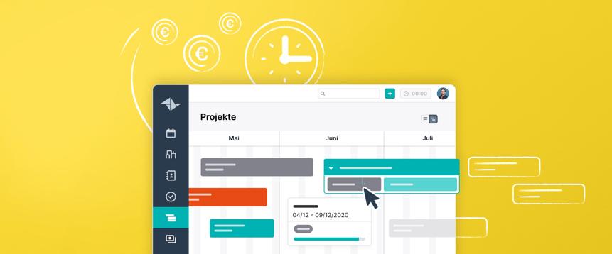 Behalten Sie den Überblick mit der Projekt-Zeitleiste von Teamleader